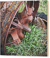 Ferrous Wheel Wood Print