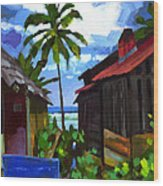 Tiririca Beach Shacks Wood Print
