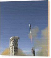 Titan II Rocket Launch Wood Print