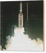 Titan Iv-b Launch Wood Print
