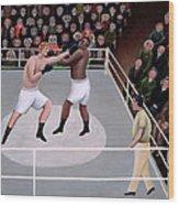 Title Fight Wood Print by Jerzy Marek