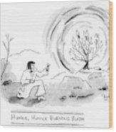 Title: Hunka Wood Print