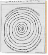 Title: Hypnotoon A Picture Of A Large Swirl - Wood Print