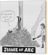 Title: Joanie Of Arc. A Teenage Joan Of Arc Rests Wood Print