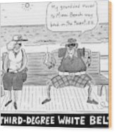 Title: Third Degree White Belt. An Old Man Wood Print