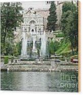 Tivoli Fountains Wood Print