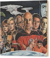 Tng Crew Season 1 Wood Print by Jonathan W Brown