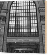 To All Trains Chicago Union Station Wood Print