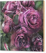 To Be Loved - Mauve Rose Wood Print