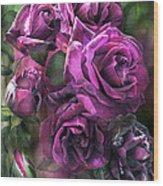 To Be Loved - Purple Rose Wood Print