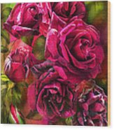 To Be Loved - Red Rose Wood Print