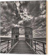 To The Bridge Wood Print