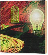 To The Light Wood Print