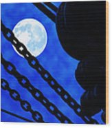 To The Moon Alice Wood Print by Mike Flynn