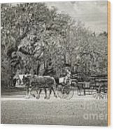To The Stables Wood Print