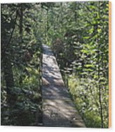 To The Trout Stream Wood Print