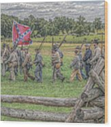 To The Wheatfield And Glory Wood Print by Randy Steele