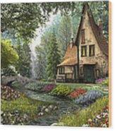 Toadstool Cottage Wood Print