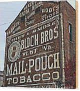 Tobacciana - Mail Pouch Tobacco Wood Print