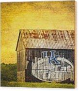 Tobacco Barn In Kentucky Wood Print