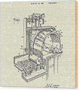 Tobacco Machine 1932 Patent Art Wood Print