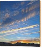 Tobacco Root Mountains At Sunset 1 Wood Print