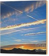 Tobacco Root Mountains At Sunset 2 Wood Print