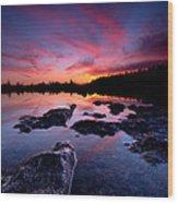 Tobermory Sunset 2 Wood Print
