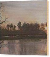 Tobesofkee Sunset Wood Print