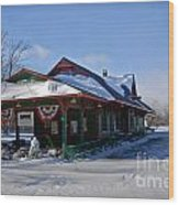Tobyhanna Train Station Wood Print