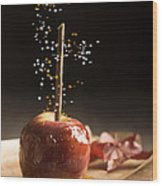 Toffee Apple Wood Print
