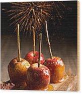 Toffee Apples Group Wood Print by Amanda Elwell