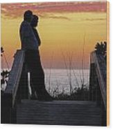 Together At Sunset  Wood Print