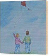 Together Flying Wood Print