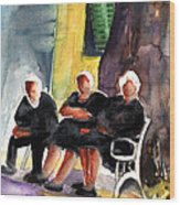Together Old  In Italy 06 Wood Print