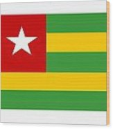 Togo Flag Wood Print
