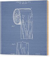 Toilet Paper Roll Patent Drawing From 1891 - Light Blue Wood Print