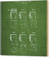 Toilet Paper Roll Patent From 1891 - Green Wood Print
