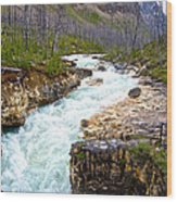 Tokuum Creek Flowing Into Marble Canyon In Kootenay Np-bc Wood Print