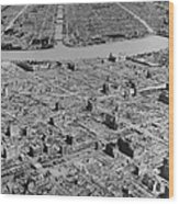 Tokyo, Japan, In Ruins After B-29 Wood Print