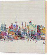 Tokyo Skyine Wood Print