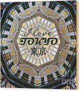 Tokyo Station Marunouchi Building Dome Interior After Restoratio Wood Print