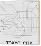 Tokyo Subway Map Framed.Tokyo Subway Map Wood Print