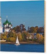 Tolga Monastery At River Volga Wood Print