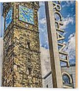 Tollbooth Clock Tower Glasgow Wood Print