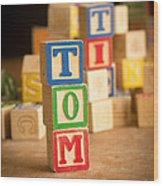 Tom - Alphabet Blocks Wood Print