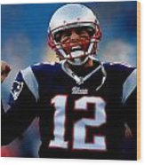 Tom Brady Back To The Super Bowl Wood Print