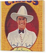 Tom Mix On 1937 Poster Art Promoting Wood Print