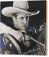 Tom Mix Portrait Melbourne Spurr Hollywood California C.1925-2013 Wood Print