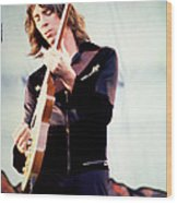 Tom Scholz Of Boston-day On The Green 1 In Oakland Ca 5-6-79 1st Release Wood Print by Daniel Larsen